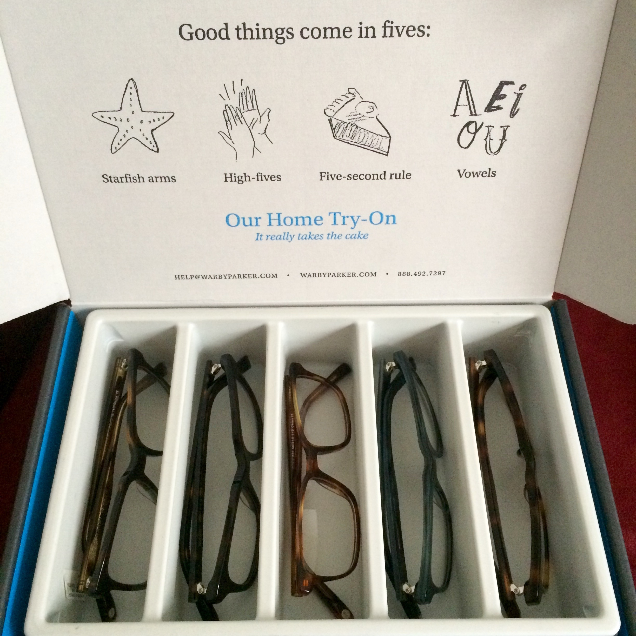 49220732db3 IMG 1435. It arrived! I placed my order for my Warby Parker Home ...